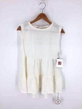ALEXIA STAM(アリシアスタン)Ruffle Hem Sleeveless Topシャツ・ブラウス