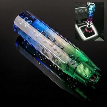 クリスタルシフトノブ バブル 八角 150mm 3枚アダプター付き