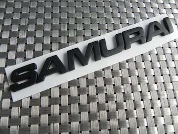 輸入SAMURAI サムライ黒3Dエンブレム☆ジムニー ステッカー