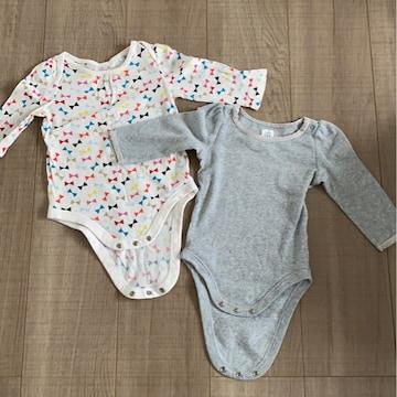baby Gap女の子ベビ長袖ロンパ6-12mインナー肌着2個セット