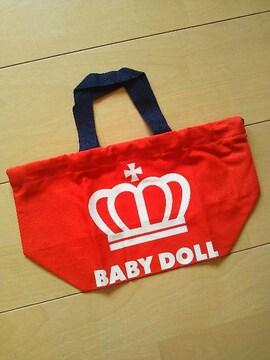 新品BOX巾着☆お弁当袋☆赤ベビードールBABYDOLLベビド