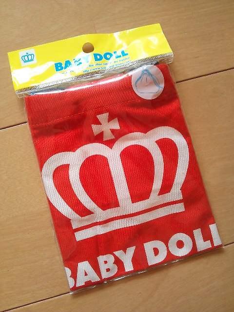 新品BOX巾着☆お弁当袋☆赤ベビードールBABYDOLLベビド < ブランドの