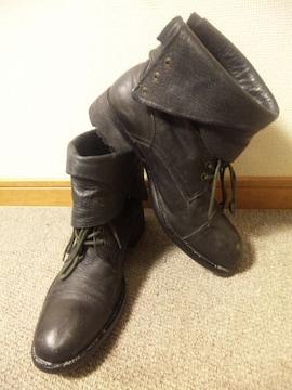 アルフレッドバニスター〓レザーブーツ靴〓43/ブラック〓