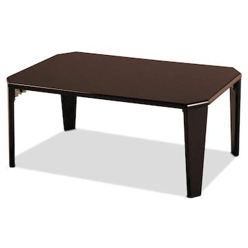 幅75cm 折りたたみ テーブル ローテーブル  ブラウン