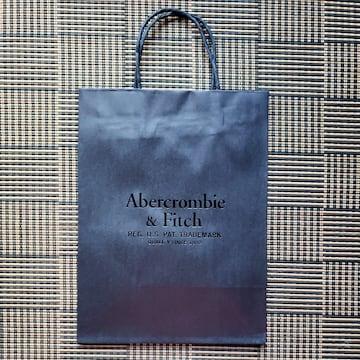 【アバクロ★ショップ袋】Abercrombie&Fitch♪高級感♪ブラック