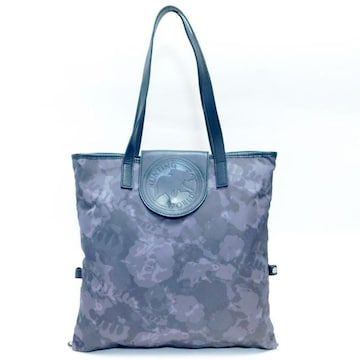 ハンティングワールド トートバッグ 花柄 紺×濃グレー系 正規品