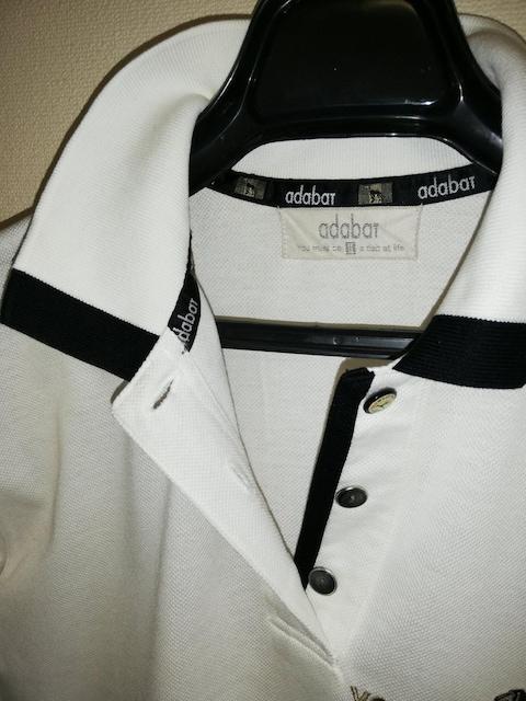 アダバット 半袖ポロシャツ ホワイト 美品 < ブランドの