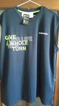 4Lサイズ!ブランド品HEAD抗菌防臭テープ使用!吸水速乾サラッとノースリーブTシャツ