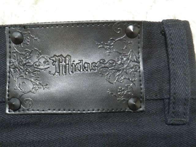 【MIDAS/ミダス】トリプルZIPショーパン.ハーフデニムブラック < ブランドの