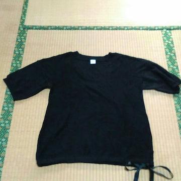 ★新品★フェリシモ★nusy★半袖綿ニット★LL