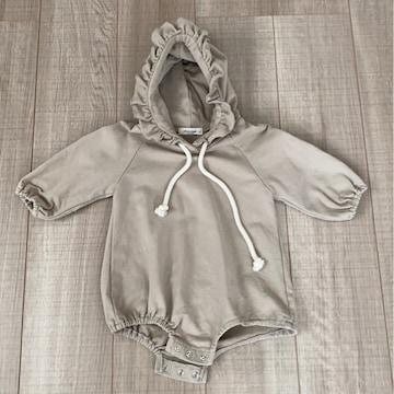 韓国子供服Choucreamフード付きつなぎS美品