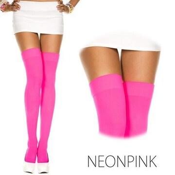 厚手のネオンカラータイツ ピンク