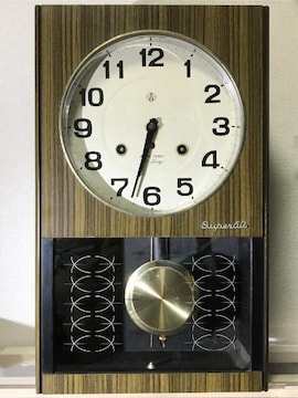 愛知時計 ゼンマイ式掛け時計 60日巻き