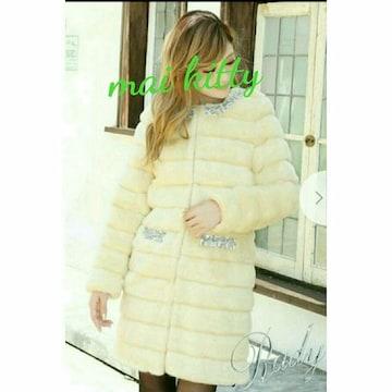 pocketビジューlongファーコート