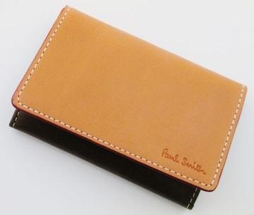 新品/箱付 ポールスミス エッジダイレザー牛革 名刺入れ ct