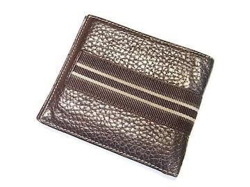 ☆送料込☆ダンヒル シボレザー製折り財布 札入れ