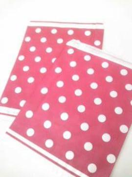 R50サイズ平袋☆シンプルドット赤★A5が入る紙袋30枚