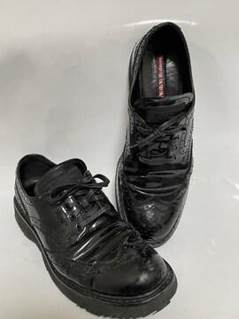 プラダ PRADA スニーカー ブラック 黒