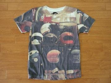 ヴィンテージ パビリオン ヘルメット フォト Tシャツ S