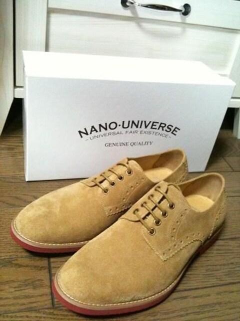 新品箱付 NANO UNIVERSE  リアルスエードブーツ ナノ  < ブランドの