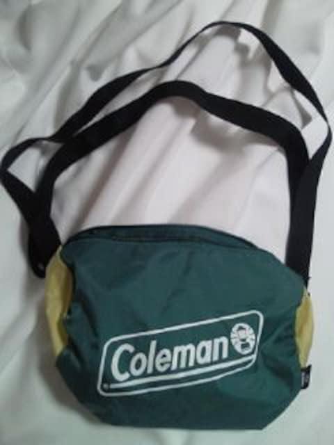 Coleman コールマン SUBARU スバル コラボ バッグ BAG グリーン ショルダーバッグ < ブランドの