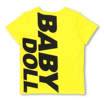 新品BABYDOLL☆120 ポケット付き ロゴTシャツ イエロー ベビードール
