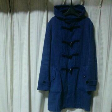バルデ77Varde77ダッフルコートSサイズ青ブルー紺色ネイビー日本製アウター中古メンズ