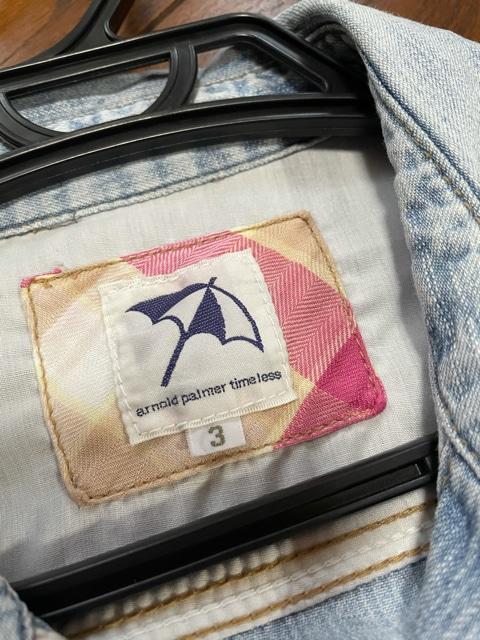 【サイズ3】アーノルドパーマー◆ロゴ入◆春秋デニムシャツOP < ブランドの