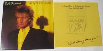 ロッド・スチュワート トゥナイト・アイム・ユアーズ 初回発売LP