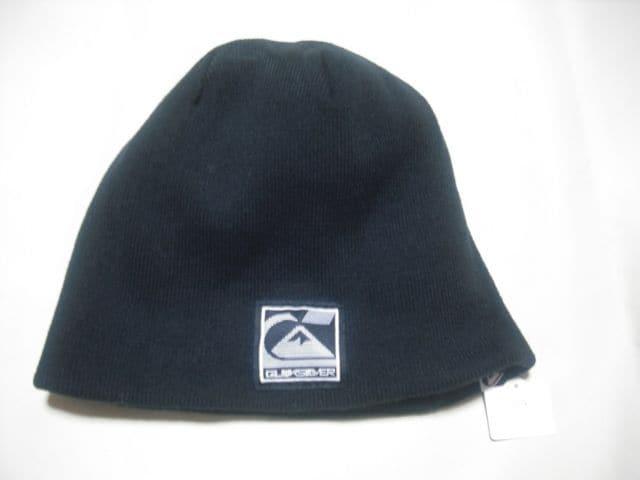 mb224 男 QUIKSILVER クイックシルバー リバーシブル ニット帽 < ブランドの