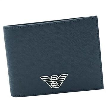★エンポリオアルマーニ 2つ折財布(BL)『Y4R165 YLA0E』★新品本物★