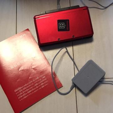 ニンテンドー3DS本体☆赤レッド☆充電器取扱説明書付き
