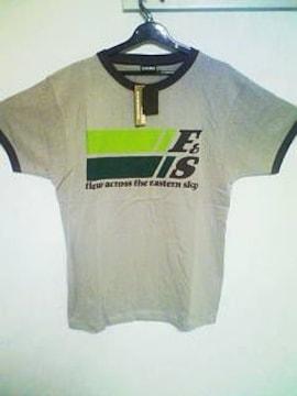 Aー148★新品★メンズ半袖カジュアルプリントTシャツ グレー L