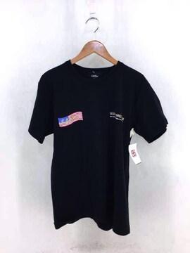 SAPEur(サプール)アメリカ国旗プリントTシャツクルーネックTシャツ