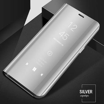 iPhone8 iPhone7  手帳型ケース ミラー 鏡面 フィルム 銀