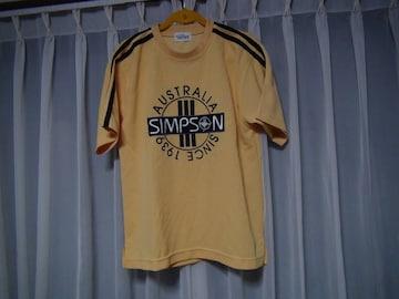 シンプソンのTシャツ(M) イエロー! 。