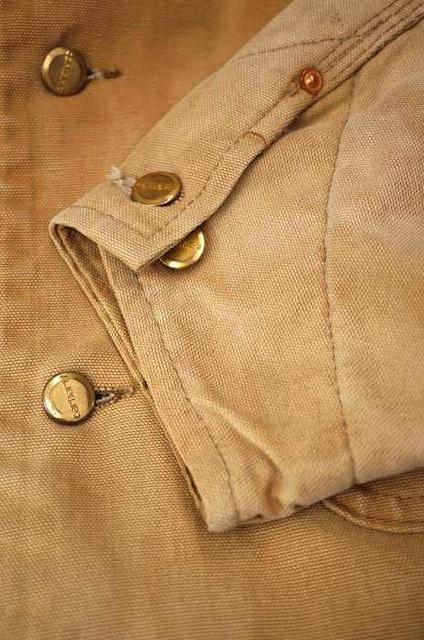 Carhartt(カーハート)80~90S USA製 裏地ブランケット ダック地ミシガンチョアコートブル < 男性ファッションの