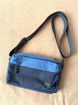 ポーター/PORTER ブリッジ Sサイズ ショルダーバッグ ブルー 中古