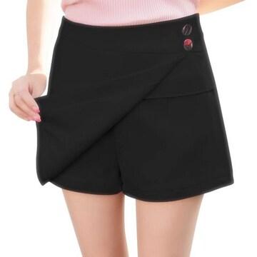 ミニスカートに見える!! 可愛いスカンツ(XL寸・黒)