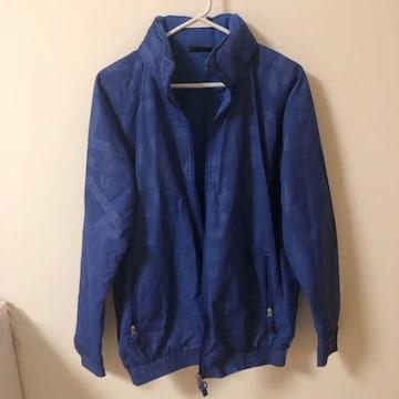 ワールド青ブルー英字ロゴ上着ジャンパージャケット