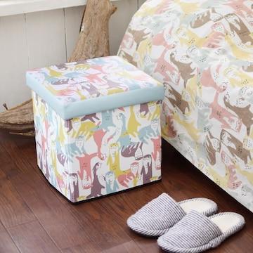収納BOXスツール ニギヤカワウソ かわうそ 小物入れ おもちゃ箱