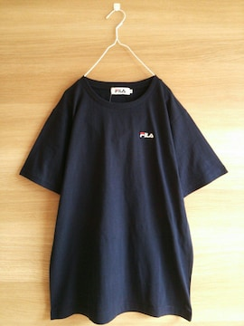 新品FILA*半袖Tシャツ*未使用フィラ*紺レディース*ネイビー