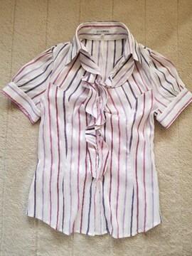 NARACAMICIE ぷっくり袖のフリルシャツ
