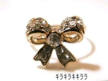 《New》ageha掲載★エタニティリボン・リング/指輪<クリア>【箱付】