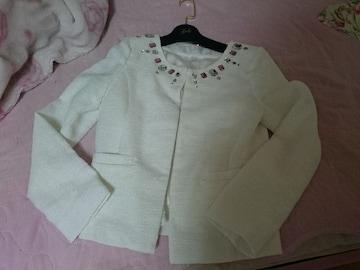 Radyストーン付ホワイトジャケットレディー武藤静香ageha春☆未使用
