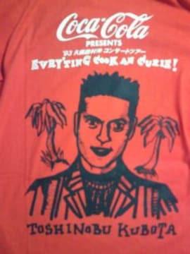 久保田利伸 ライブ コンサート ツアー コカコーラ コラボ Tシャツ レッド Lサイズ 1993