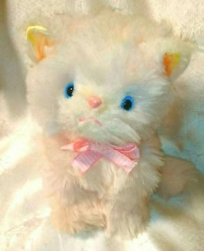昭和レトロ ピンク 猫 人形 ぬいぐるみ ファンシー ねこ ネコ
