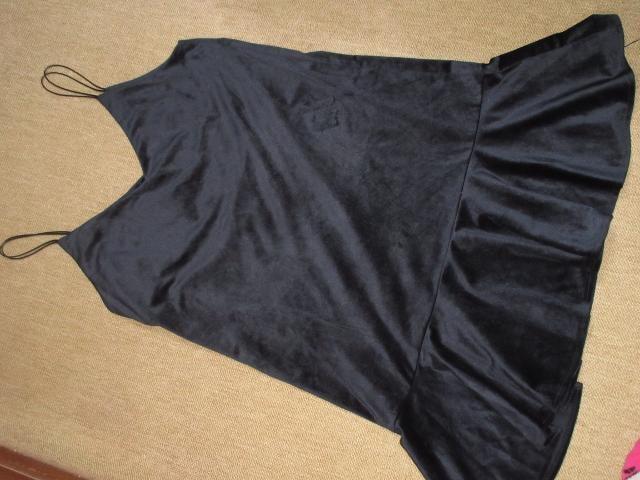 キャミソールワンピース*膝丈(ダークネイビー系)  < 女性ファッションの