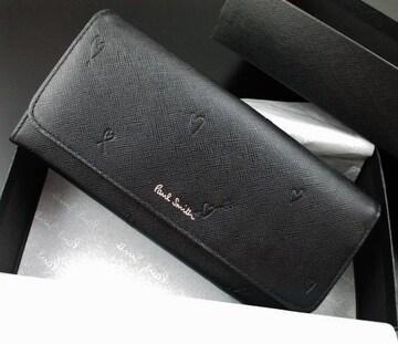 新品☆箱付 ポールスミス 人気デザイン 長財布 黒 n202