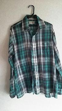 グリーン★カジュアル★シャツ☆sizeL